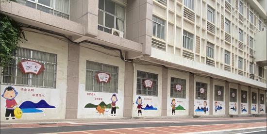 """福建惠安:公益墙绘点""""靓""""城市 文明新风由画入心"""